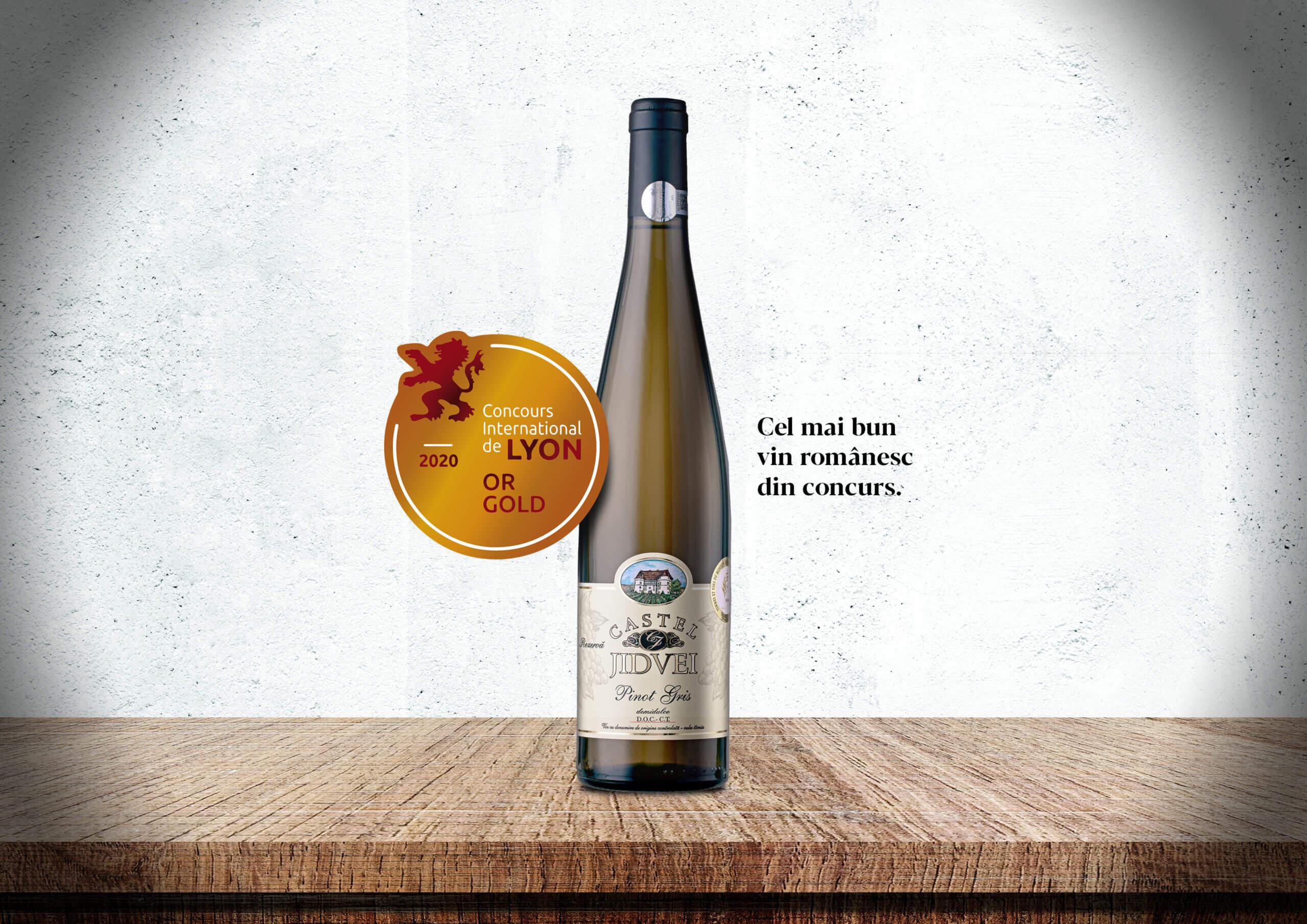 Castel Pinot Gris 2009, desemnat cel mai bun vin românesc în cadrul Concours International de Lyon 2020