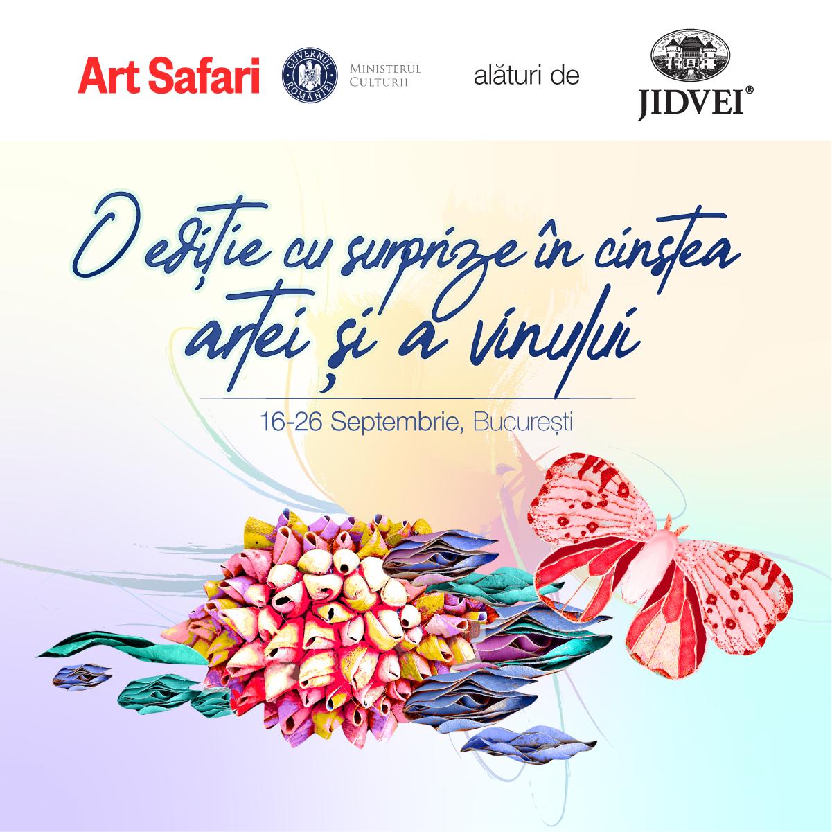 10 zile, 5 simțuri, 2 vinuri – cu Jidvei la Art Safari Bucharest